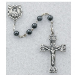 SS 6MM GENUINE AMETHYST ROSARY