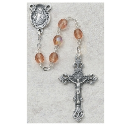 6MM ROSE/OCTOBER ROSARY