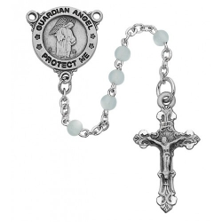BLUE GUARDIAN ANGEL ROSARY
