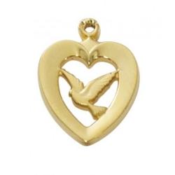 G/SS HEART W/DOVE 18