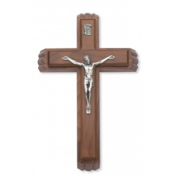 WALNUT SICK CALL SET CRUCIFIX