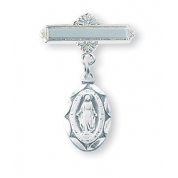 Sterling Silver Baby Miractulous Medal