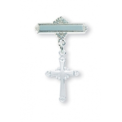 Sterling Silver Fancy Baby Cross Pin