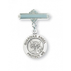 Sterling Silver Baby Guardian Angel Pin