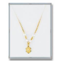 4mm White Imitation Swarovski Pearl Necklace