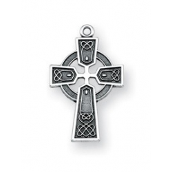 Sterling Silver Cross with 13