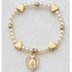 G/SS BABY HEART STRETCH BRACELET