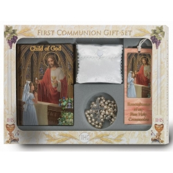 CHILD OF GOD GIRL'S 6-PIECE DELUXE FIRST COMMUNION GIFT SET