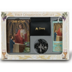 CHILD OF GOD BOY'S FIRST COMMUNION 6-PIECE DELUXE GIFT SET