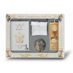 DELUXE FIRST COMMUNION 6-PIECE GIFT SET