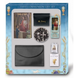 CHILD OF GOD BOY'S FIRST COMMUNION 7-PIECE DELUXE GIFT SET