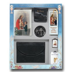 CHILD OF GOD BOY'S DELUXE 7-PIECE FIRST COMMUNION GIFT SET