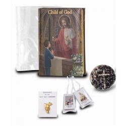 CHILD OF GOD BOY'S FIRST COMMUNION 5-PIECE GIFT SET