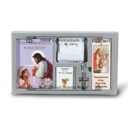 GIRL FIRST COMMUNION 6-PIECE GIFT SET