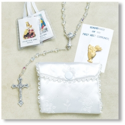 GIRLS FIRST COMMUNION ROSARY SET