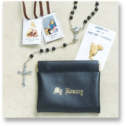 BOY'S FIRST COMMUNION ROSARY SET