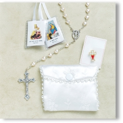 PEARL FIRST COMMUNION ROSARY SET