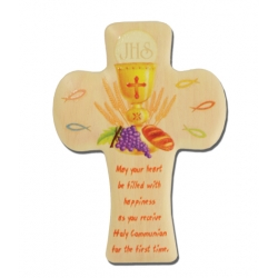 FIRST COMMUNION ROUNDED CROSS