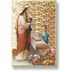 CHILD OF GOD FIRST COMMUNION BOY MOSAIC PLAQUE