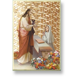 FIRST COMMUNION GIRL MOSAIC PLAQUE