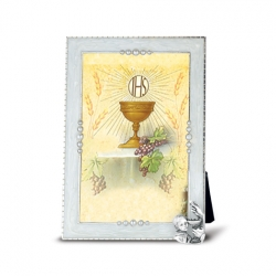 COMMUNION BOY WITH CHALISE ON PEARLIZED FRAME