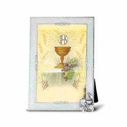 COMMUNION GIRL WITH CHALISE ON PEARLIZED FRAME