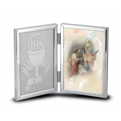 DOUBLE HINGED COMMUNION REMEMBRANCE PHOTO FRAME (BOY)