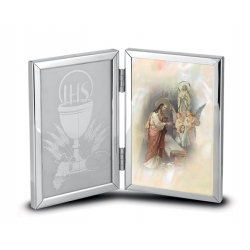 DOUBLE HINGED COMMUNION REMEMBRANCE PHOTO FRAME (GIRL)