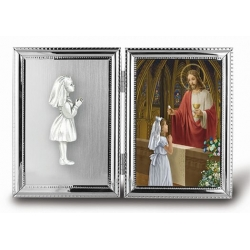 GIRL COMMUNION PICTURE FRAME
