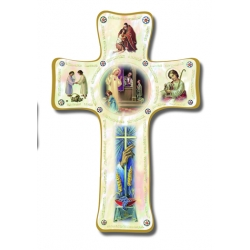 PEARLIZED PENANCE CROSS 6