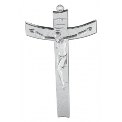 SILVER PLATED CONTEMPORARY CRUCIFIX