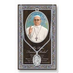 GENUINE PEWTER POPE FRANCIS MEDAL