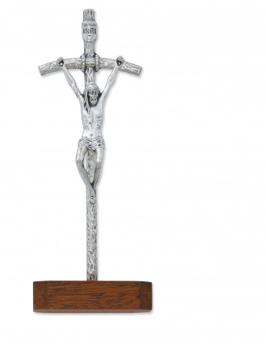 "5 1/2"" STANDING PAPAL CRUCIFIX"