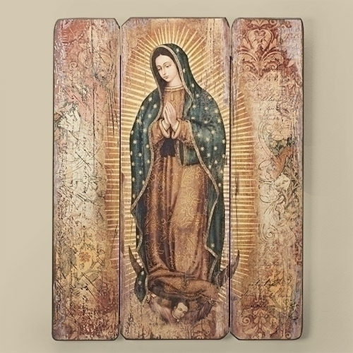 """17""""H LADY OF GUADALUPE PLAQUE"""