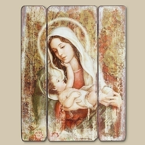 "15"" A CHILD'S TOUCH PANEL MADONNA AND CHILD"