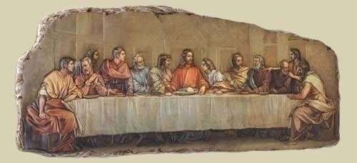 "18.5""W LAST SUPPER PLAQUE"