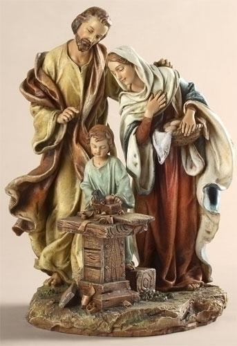 """9.5"""" HOLY FAMILY IN CARPENTER"""