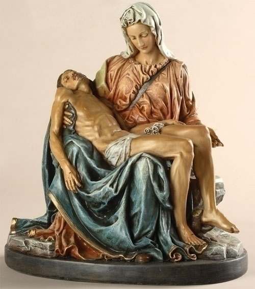 "10"" PIETA FIGURE COLORED"
