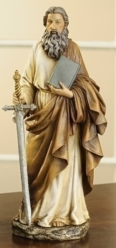 "10.5"" ST PAUL W/BOOK FIGURE"
