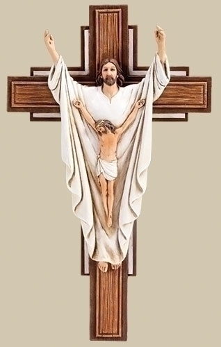 "10"" HE IS RISEN CRUCIFIX"