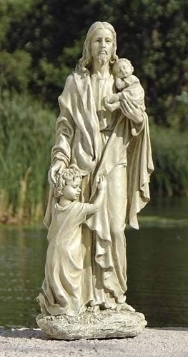 "24"" JESUS W/CHILDREN GARDEN"