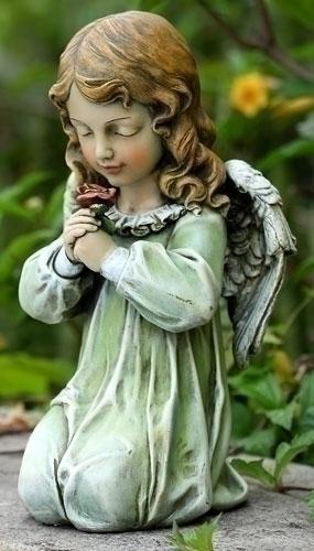 """12"""" KNEELING ANGEL STATUE"""