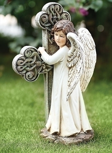 "11.75"" ANGEL FACING CROSS"