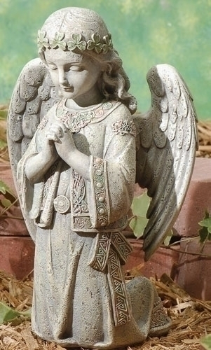 "12.25"" CELTIC KNEELING ANGEL"