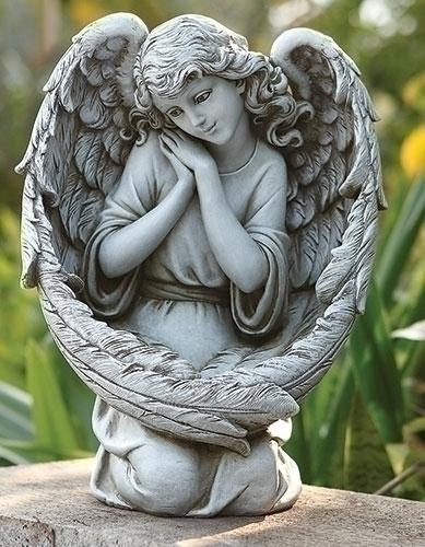 """13"""" ANGEL W/BIRD FEEDER WINGS"""