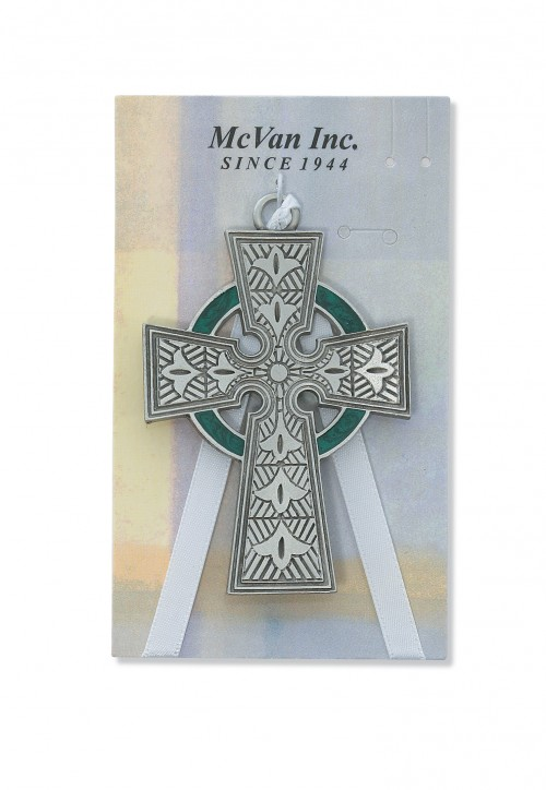 "3"" PEWTER CELTIC CROSS CARDED"