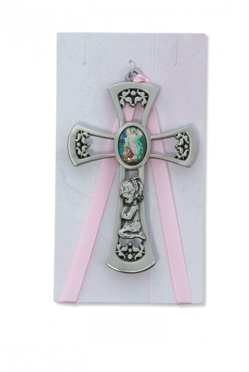 "3 3/4"" G.A. GIRL PINK CROSS/CARD"