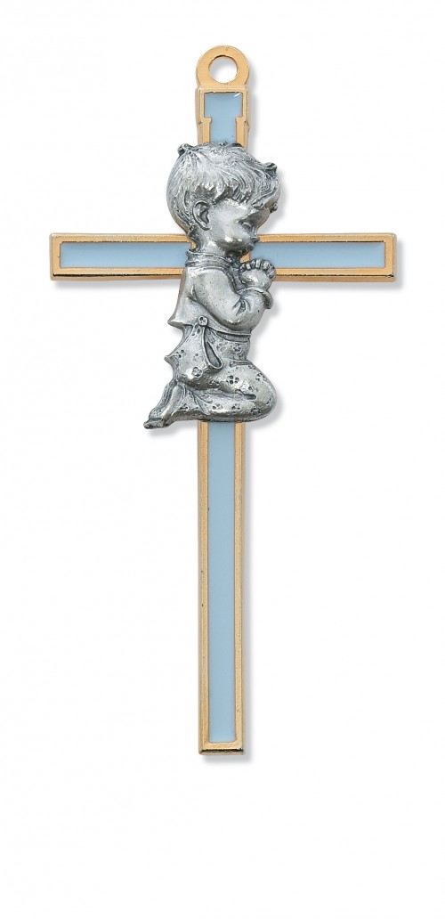 "5 1/2"" BLUE EPOXY BOY CROSS"