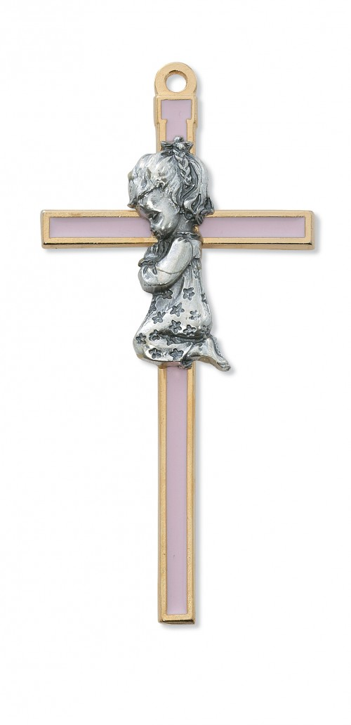 "5 1/2"" PINK EPOXY GIRL CROSS"