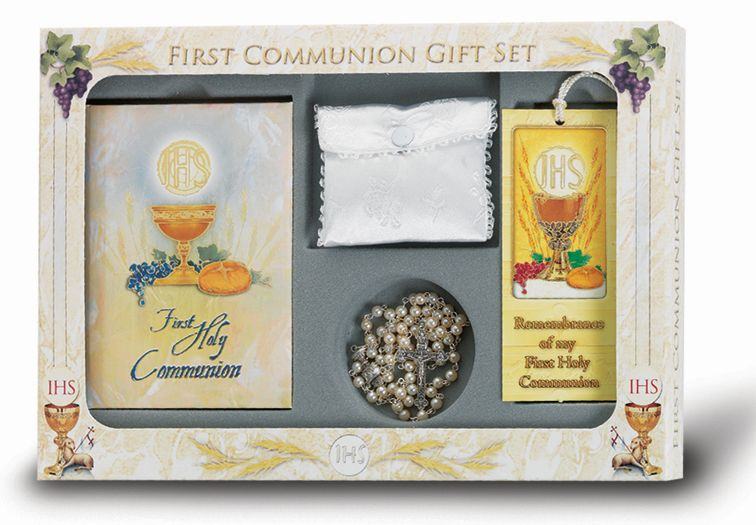 """BLESSED TRINITY"" 6-PIECE DELUXE FIRST COMMUNION GIFT SET"